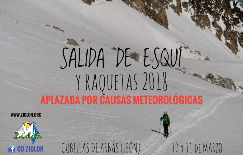 SALIDA DE ESQUÍ DE TRAVESÍA Y RAQUETAS 2018